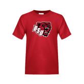 Youth Red T Shirt-BSU w/ Bear Head