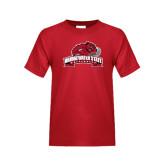 Youth Red T Shirt-Bridgewater State University w/ Bear