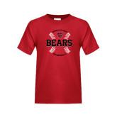 Youth Red T Shirt-Baseball Seams Design