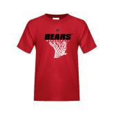 Youth Red T Shirt-Basketball Net Design
