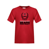 Youth Red T Shirt-Football Helmet Design