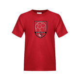 Youth Red T Shirt-Soccer Shield Design