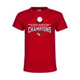 Youth Red T Shirt-2018 Mens Basketball Champions