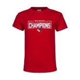 Youth Red T Shirt-2018 Mens Basketball Champions - Box