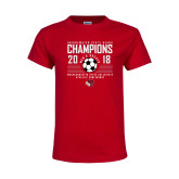 Youth Red T Shirt-2018 MSCAC Mens Soccer Champions