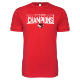 Next Level SoftStyle Red T Shirt-2018 Mens Basketball Champions - Box