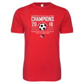 Next Level SoftStyle Red T Shirt-2018 MSCAC Mens Soccer Champions