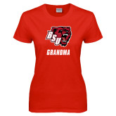 Ladies Red T Shirt-Grandma