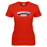 Ladies Red T Shirt-Bridgewater State University Bears