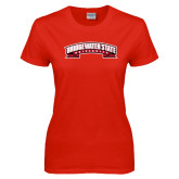 Ladies Red T Shirt-Bridgewater State University