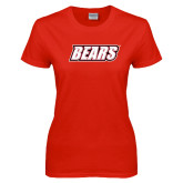 Ladies Red T Shirt-Bears