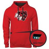 Contemporary Sofspun Red Hoodie-BSU w/ Bear Head
