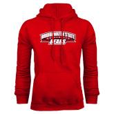Red Fleece Hoodie-Bridgewater State University Bears