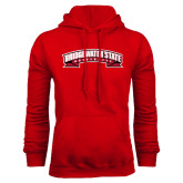 Red Fleece Hoodie-Bridgewater State University