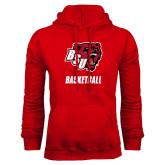 Red Fleece Hoodie-Basketball
