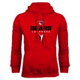 Red Fleece Hoodie-Geometric Lacrosse Design