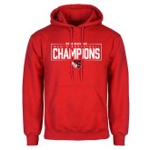 Red Fleece Hoodie-2018 Mens Basketball Champions - Box