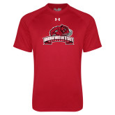 Under Armour Red Tech Tee-Bridgewater State University w/ Bear