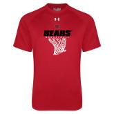Under Armour Red Tech Tee-Basketball Net Design