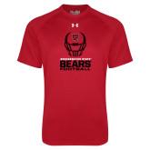 Under Armour Red Tech Tee-Football Helmet Design