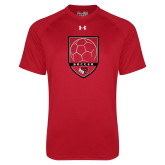 Under Armour Red Tech Tee-Soccer Shield Design