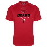 Under Armour Red Tech Tee-Geometric Lacrosse Design