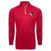 Under Armour Red Tech 1/4 Zip Performance Shirt-BSU w/ Bear Head