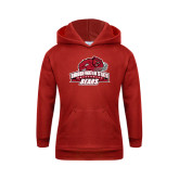 Youth Red Fleece Hoodie-Primary Mark