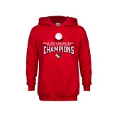 Youth Red Fleece Hoodie-2018 Mens Basketball Champions