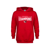 Youth Red Fleece Hoodie-2018 Mens Basketball Champions - Box