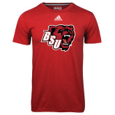 Adidas Climalite Red Ultimate Performance Tee-BSU w/ Bear Head