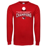 Red Long Sleeve T Shirt-2018 Mens Basketball Champions