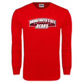Red Long Sleeve T Shirt-Bridgewater State University Bears