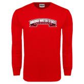 Red Long Sleeve T Shirt-Bridgewater State University