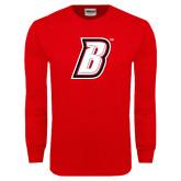 Red Long Sleeve T Shirt-B