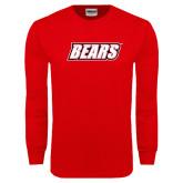 Red Long Sleeve T Shirt-Bears
