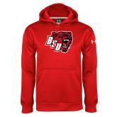 Under Armour Red Performance Sweats Team Hoodie-BSU w/ Bear Head