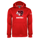 Under Armour Red Performance Sweats Team Hoodie-Basketball