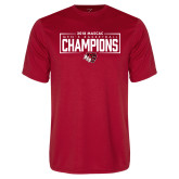 Performance Red Tee-2018 Mens Basketball Champions - Box