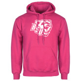 Fuchsia Fleece Hoodie-BSU w/ Bear Head