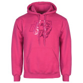 Fuchsia Fleece Hoodie-BSU w/ Bear Head Foil