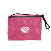 Six Pack Pink Cooler-BSU w/ Bear Head