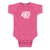 Fuchsia Infant Onesie-BSU w/ Bear Head