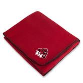 Red Arctic Fleece Blanket-BSU w/ Bear Head