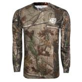 Realtree Camo Long Sleeve T Shirt w/Pocket-BSU w/ Bear Head