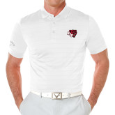 Callaway Opti Vent White Polo-BSU w/ Bear Head