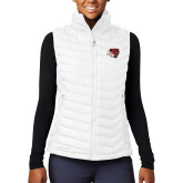 Columbia Lake 22 Ladies White Vest-BSU w/ Bear Head