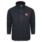 Columbia Ascender Softshell Black Jacket-BSU w/ Bear Head