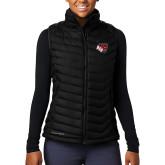 Columbia Mighty LITE Ladies Black Vest-BSU w/ Bear Head
