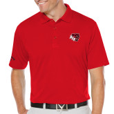 Callaway Opti Dri Red Chev Polo-BSU w/ Bear Head